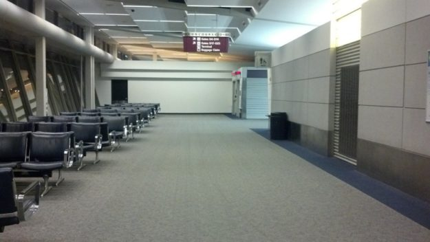 CLE Concourse D before closure