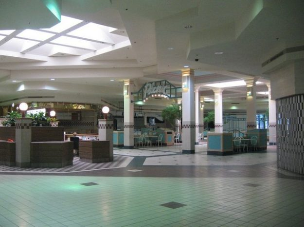 Dead mall in metro Detroit: an image to accompany vaporwave music.