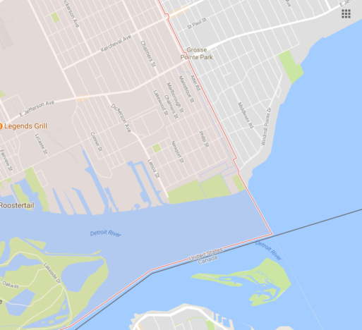 Detroit boundary map