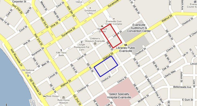Evansville DT Map corrected
