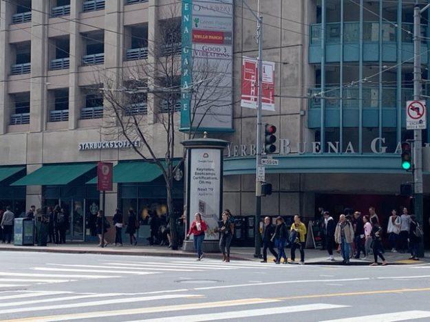 Starbucks corporate location near Moscone Center