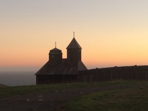 Russian Orthodox cross at Fort Ross