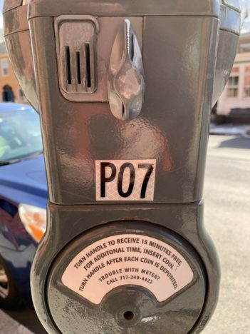knob activated parking meter in Carlisle PA