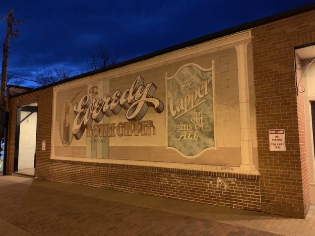 Advertising banners for a 20s-era product in Frederick MD