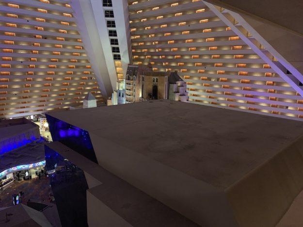 Luxor Las Vegas neglected spaces in the atrium