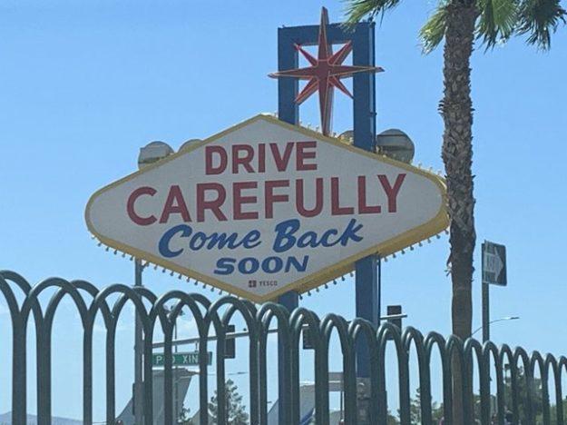 Fabulous Las Vegas sign - the back side.
