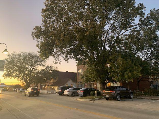 Lake Dallas main street, slowly getting revitalized.