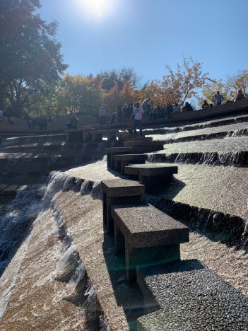 the stairsteps at the Water Gardens