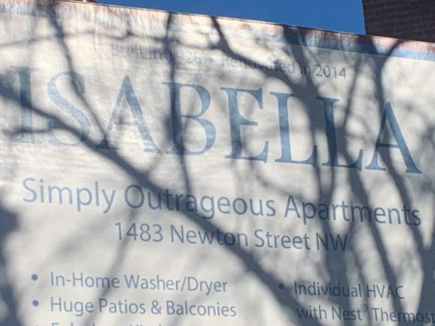 Isabella: outrage to describe an apartment building