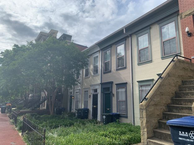 setbacks for front yards in Capitol Hill, Washington DC