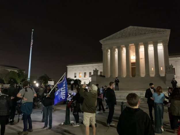 Supreme Court Building after confirmation of Justice Amy Coney Barrett