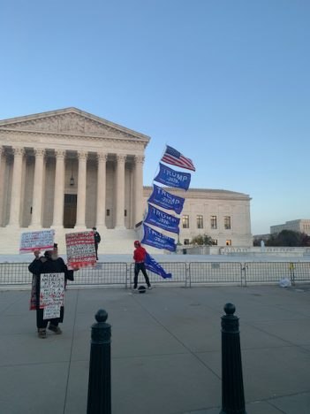 Supreme Court Building at end of Million MAGA March
