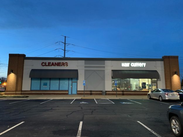 business casual decline: a closed dry cleaners in the wake of COVID lockdowns