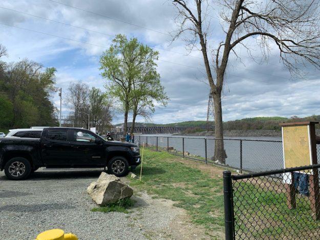 Fishing at sightseeing at Conowingo Dam