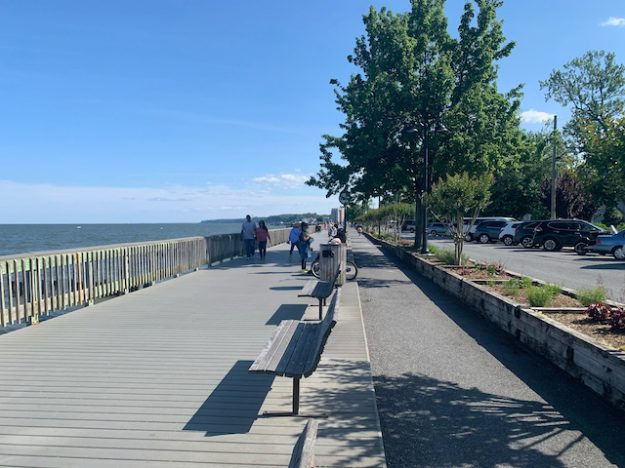 waterfront cycle track in North Beach, MD