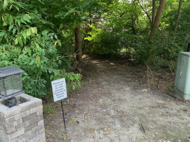 Bluff Road in Indianapolis: a safety path courtesy of the Howard family