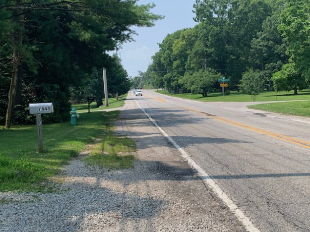 Bluff Road in Indianapolis: mostly rural