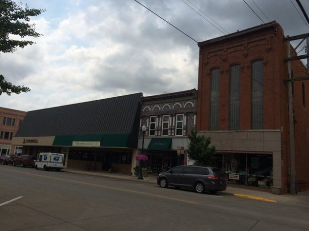Façades from three time periods in Yankton