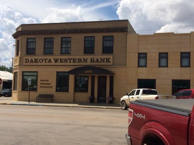 The storefronts of Bowman, ND: perfect for windshield shopping