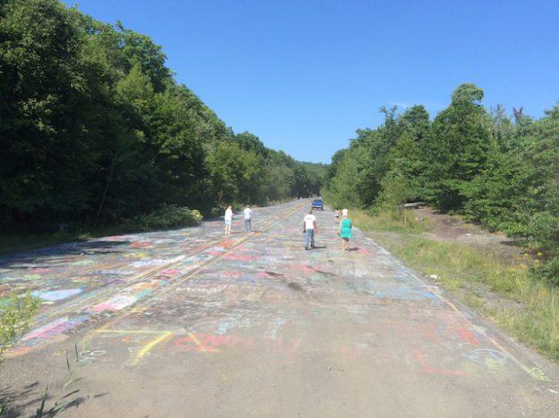 Graffiti Highway in Centralia, PA