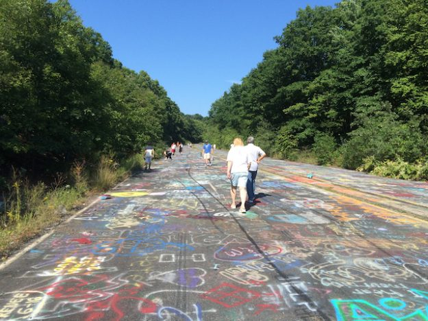 Graffiti Highway at abandoned SR 61 in Centralia, PA