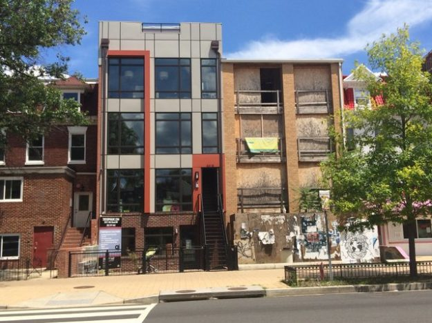 DC Columbia Heights, zombie home on right