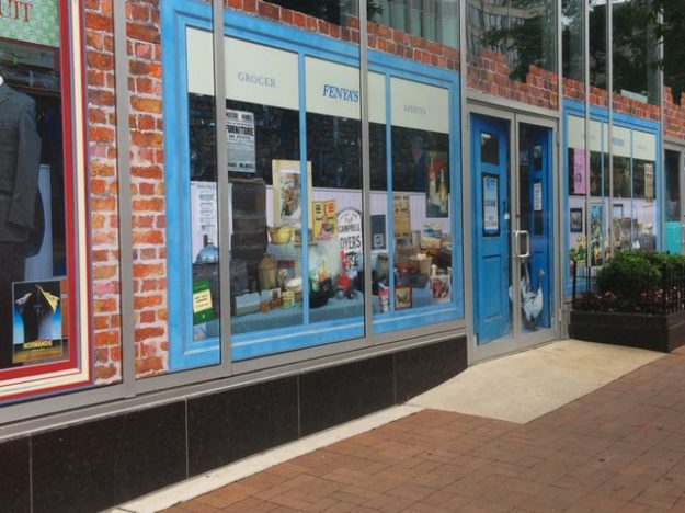 Pseudo storefronts in Silver Spring.