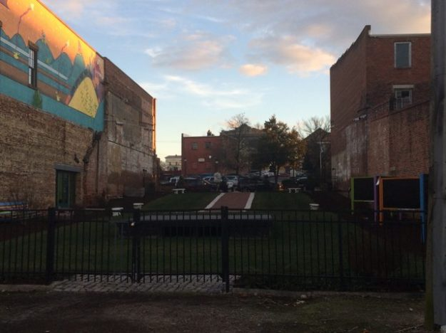Petersburg vacant lot with pocket park
