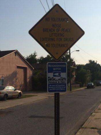 Paulsboro warning sign