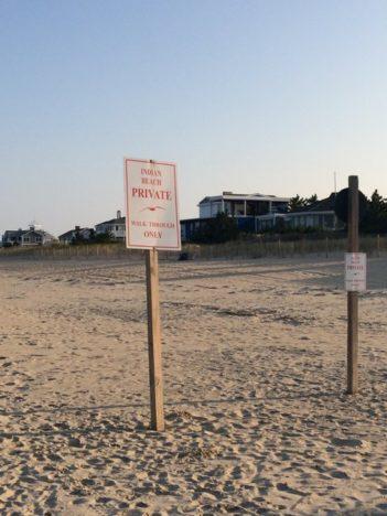 Littoral regulations at Dewey Beach