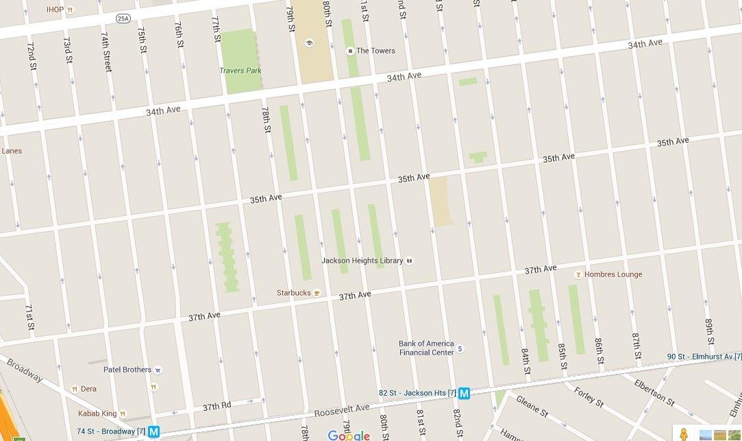 Jackson Heights map