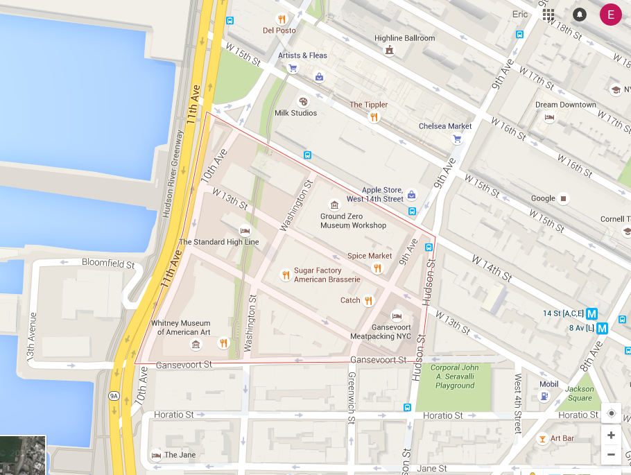 Meatpacking google map