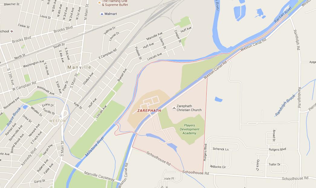 Zarephath map