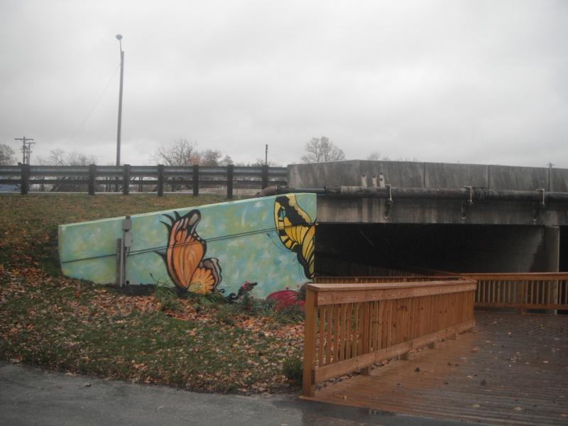 civic art and creative pedestrian trails in Kokomo Indiana