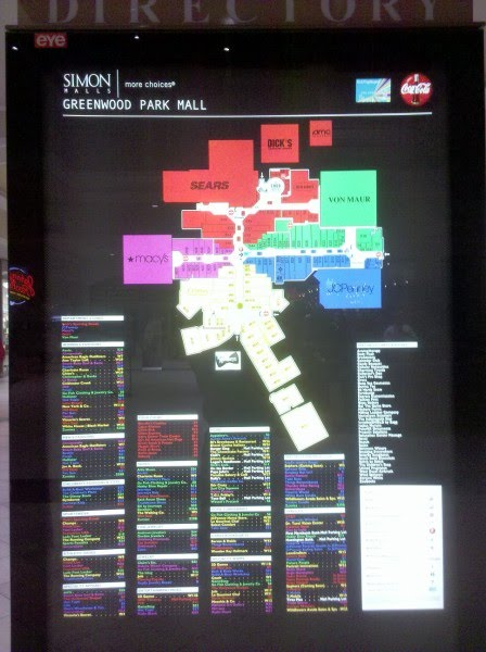 Why the Greenwood Park Mall gets it right, Part II: Design ... Castleton Square Mall Map on