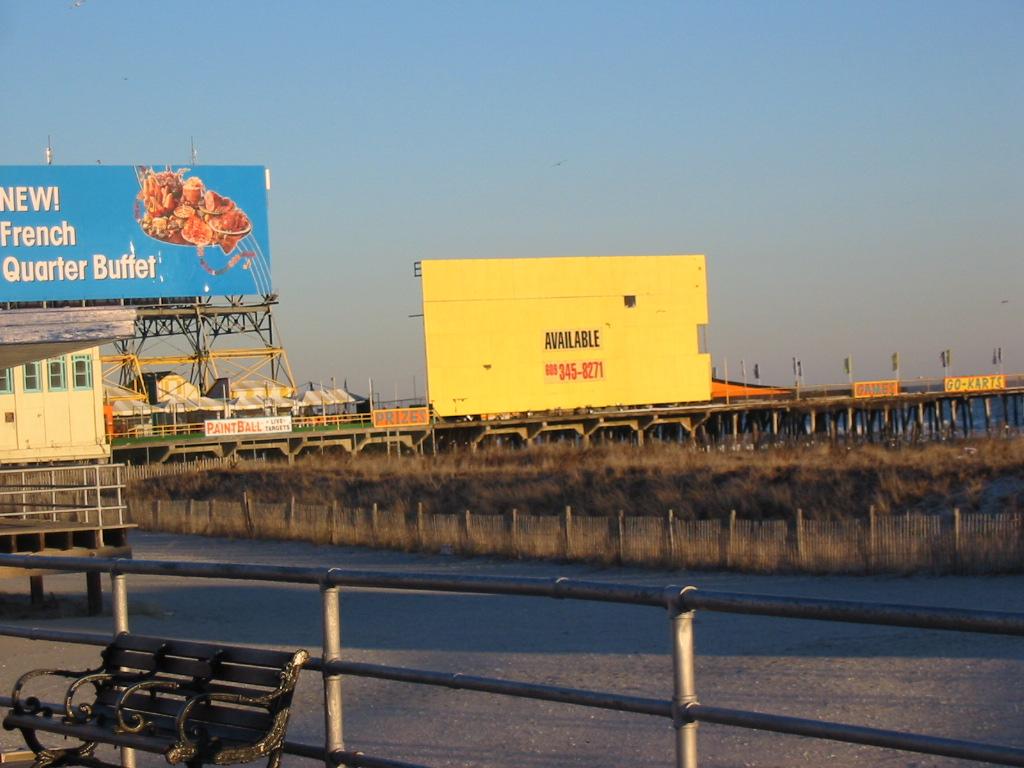 Blighted billboards at Atlantic City boardwalk