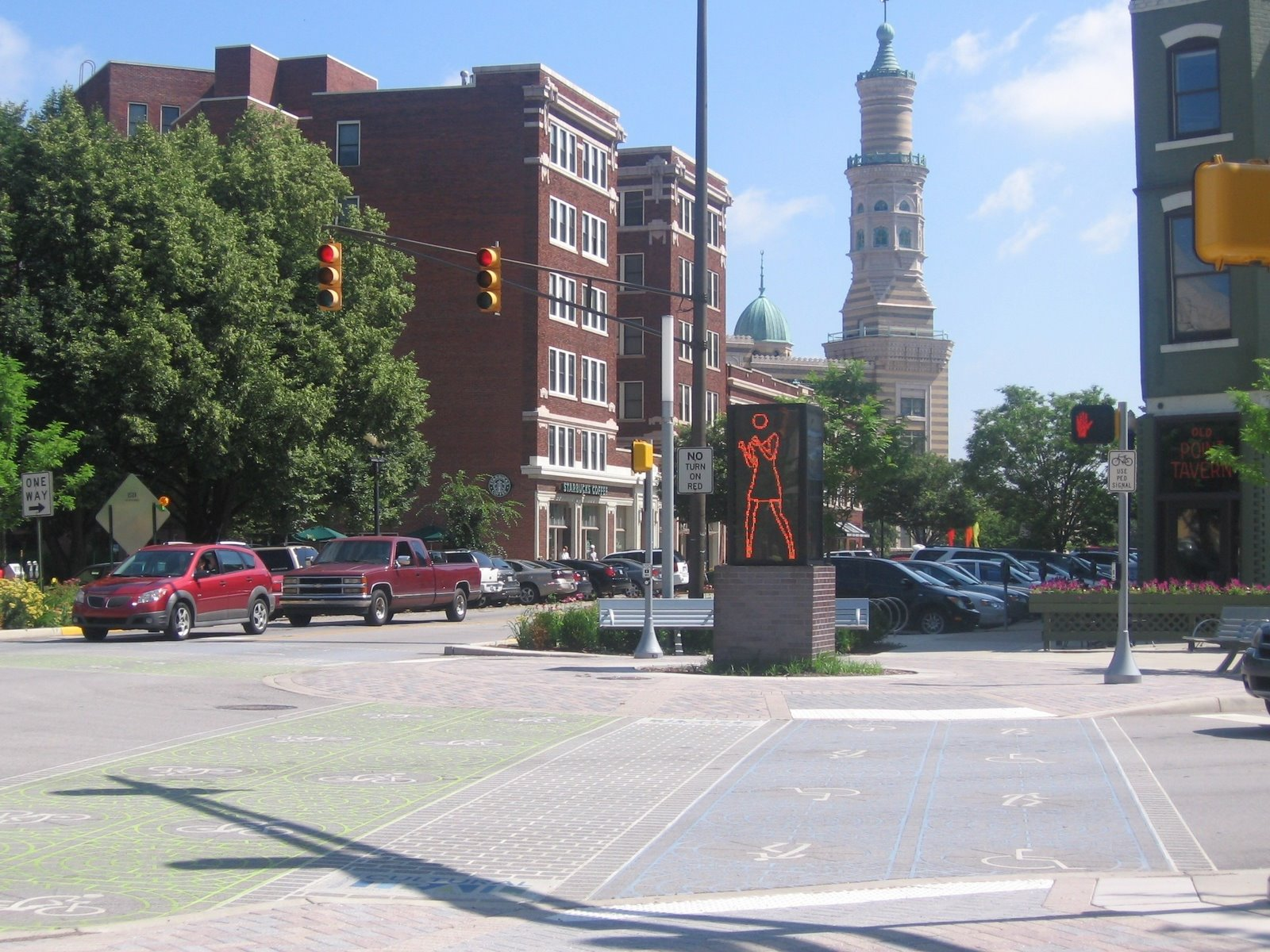 complete streets initiatives in downtown Indianapolis