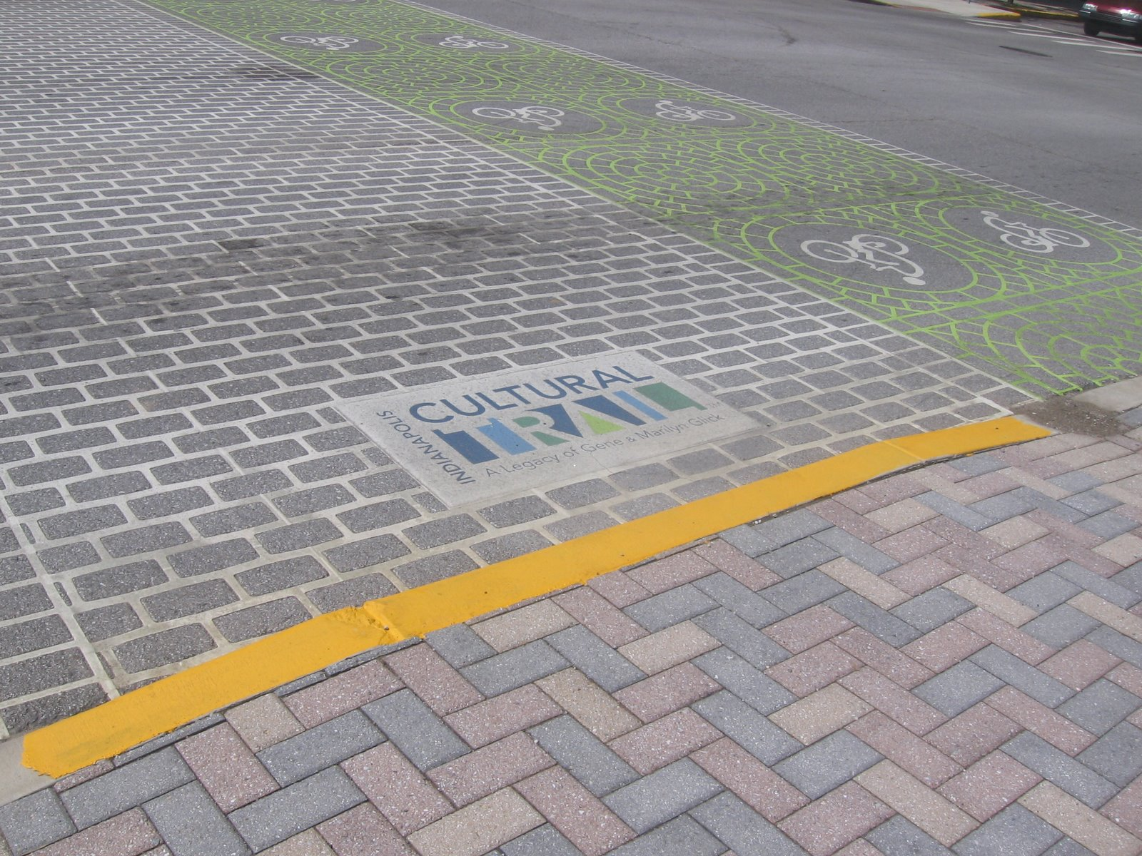 the iconography of Complete Streets in downtown Indianapolis