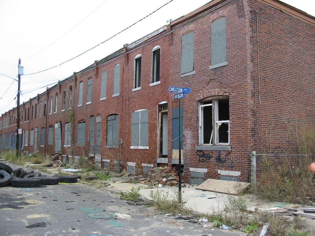 now-demolished Arlington Street in Camden NJ