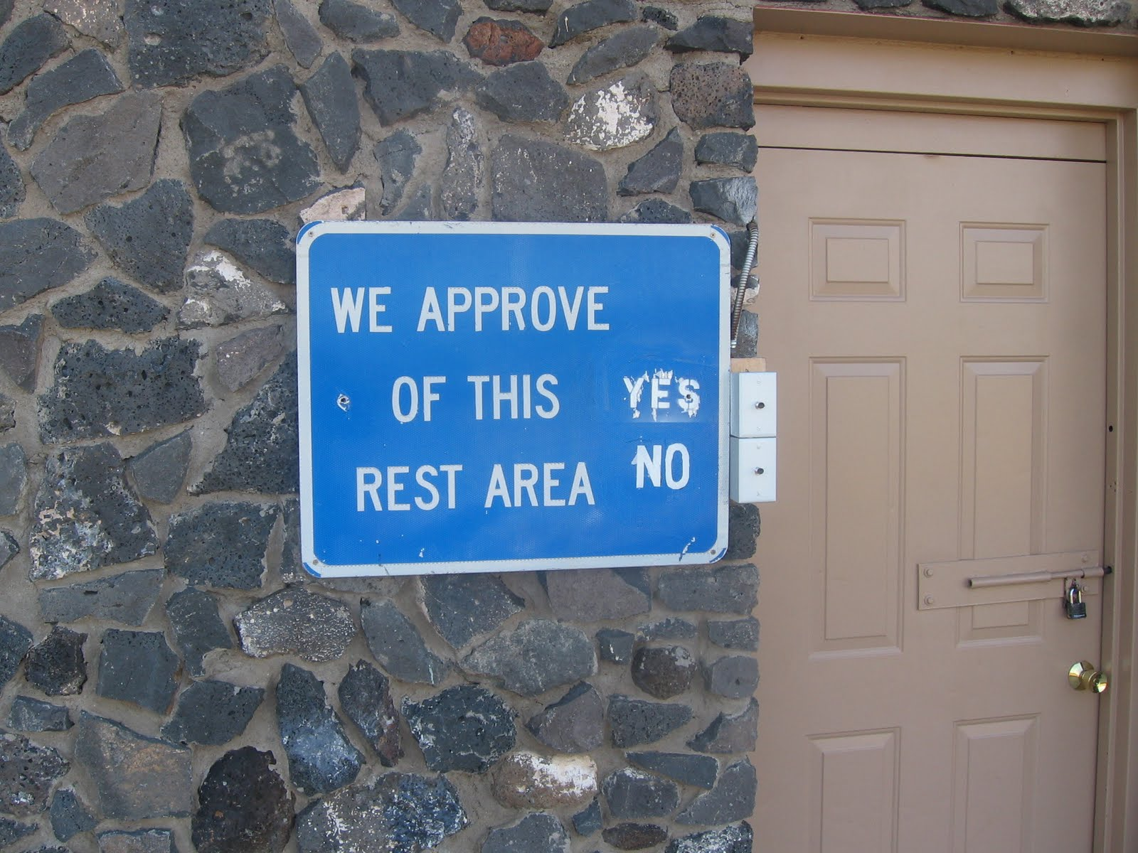Electric button ballot for New Mexico rest areas
