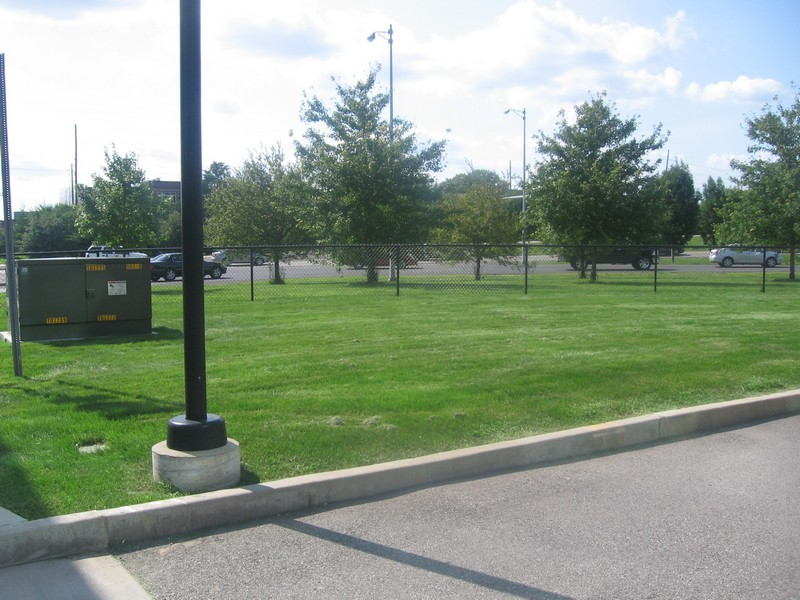 Then It Would Continue Alongside The Interstate Ramp In Grassy Area With Trees Photo Below