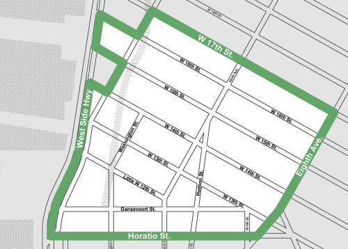 meatpacking BID map